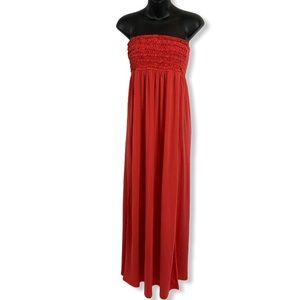 Candy Couture Strapless Maxi Dress